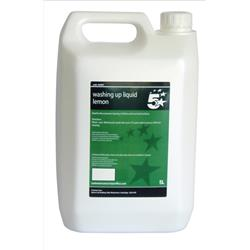5 Star Facilities Lemon Washing-up Liquid 5 Litres