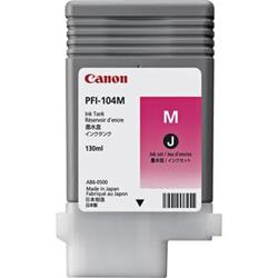 Canon PFI-104M Ink Tank 130ml Magenta Ref 3631B001