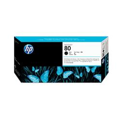 Hewlett Packard HP No. 80 Inkjet Printhead and Cleaner Black Ref C4820AE
