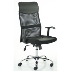 Vegalite Executive Mesh Chair Black With Arms  Ref EX000166