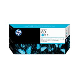 Hewlett Packard HP No. 80 Inkjet Printhead and Cleaner Cyan Ref C4821A