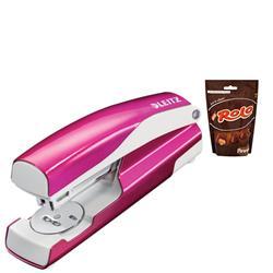 Leitz NeXXt WOW Stapler 3mm 30 Sheet Pink Ref 55021023L - FREE Rolos Pouch