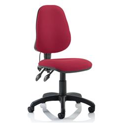 Trexus Operator Chair Flat Packed Fabric Red