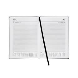 5 Star Office 2019 Diary Day to Page A5 Black Ref 941149