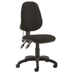 Trexus Operator Chair Flat Packed Fabric Black