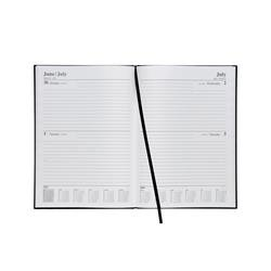 5 Star Office 2019 Diary 2 Days to Page A4 Black Ref 941034