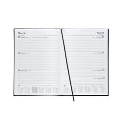 5 Star Office 2019 Diary Week to View A4 Black Ref 941092