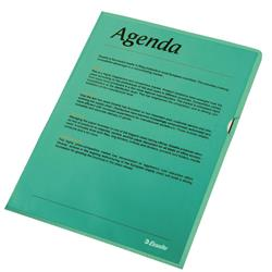 Esselte Copy-safe Folder Plastic Cut Flush A4 Green Ref 54838 - Pack 100