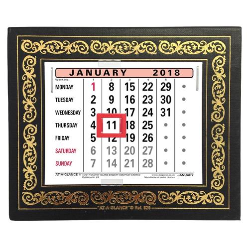 Buy At A Glance 2019 Desk Calendar Month To View Leatherette Binding