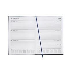 5 Star Office 2019 Diary Week to View A4 Blue Ref 941096