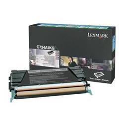 Lexmark C734 Laser Toner Cartridge Return Program Page Life 8000pp Black Ref C734A1KG