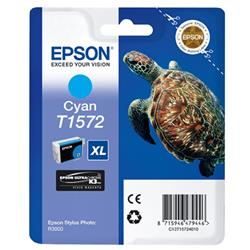 Epson T1572 Inkjet Cartridge Turtle 25.9ml Cyan Ref C13T15724010