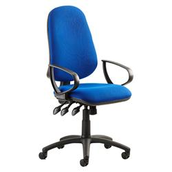Eclipse XL III Lever Task Operator Chair Blue Fabric With Loop Arms Ref KC0033