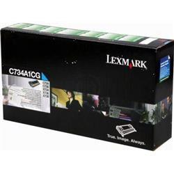 Lexmark C734 Laser Toner Cartridge Return Program Page Life 6000pp Cyan Ref C734A1CG