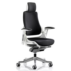 Zure Executive Chair Black Fabric With Arms With Headrest Ref KC0161