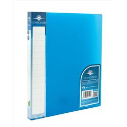 Concord Vibrant Ring Binder Polypropylene 2 O-Ring 15mm Size A4 Blue Ref 7123-PFL [Pack 10]
