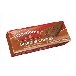 Crawfords Bourbon Biscuits 150g - Pack 12 Ref Bourb Serv