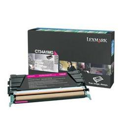Lexmark C734 Laser Toner Cartridge Return Program Page Life 6000pp Magenta Ref C734A1MG