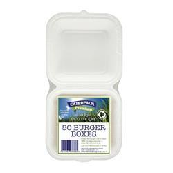 Caterpack Burger Box Rigid Ref 03861 - Pack 50