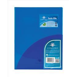 Concord Twinfile Presentation Folder Polypropylene A4 Blue Ref 7083-PFL [Pack 5]