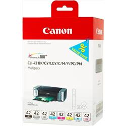 Canon CLI-42 Inkjet Cartridge Multipack Black and 7 Colours Ref 6384B010