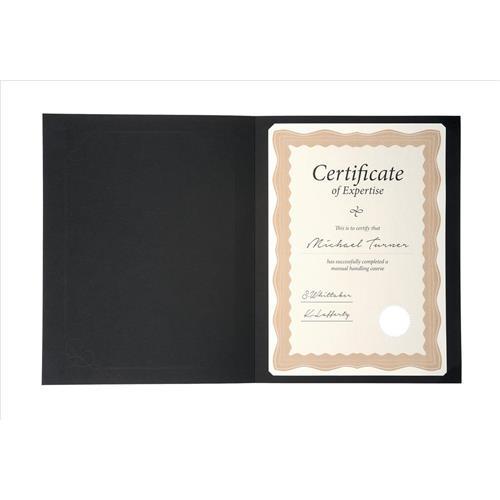 Certificate Covers Linen Finish Heavyweight Card Stock 240g Black ...