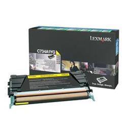 Lexmark C734 Laser Toner Cartridge Return Program Page Life 6000pp Yellow Ref C734A1YG