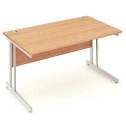 Impulse Cantilever 1400 Rectangle Desk Beech Ref I000284