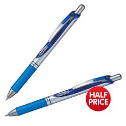 Pentel EnerGel XM Retractable 0.7mm Tip 0.35mm Line Blue Ref BL77-C [Pack 12] - Buy One Get One Half Price