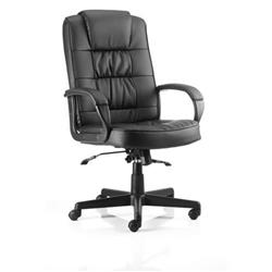 Moore Executive Chair Black Bonded Leather With Arms Ref EX000050