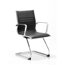 Ritz Visitor Cantilever Chair Black Bonded Leather With Arms Ref BR000123