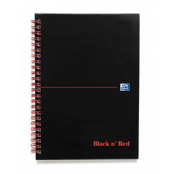 Black n Red Book Wirebound 90gsm Ruled and Perforated 140pp A5 Ref 100080220 - Pack 5 - 2 for 1