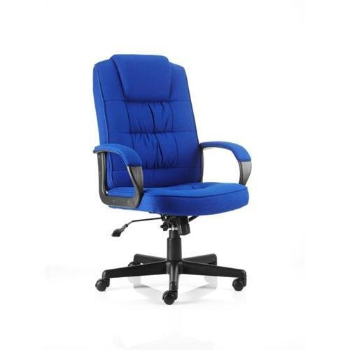 Buy Moore Executive Chair Blue Fabric With Arms Ref