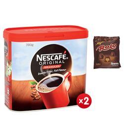 Nescafe Original Instant Coffee Granules Tin 750g Ref 12283921 - x2 + FREE 4 x Rolo Pouches