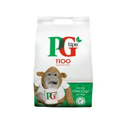 PG Tips Tea Bags Pyramid 1 Cup Ref A07591 [Pack 1100] - FREE Crawford Teatime biscuits
