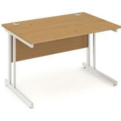 Impulse Cantilever 1200 Rectangle Desk Oak Ref I000806