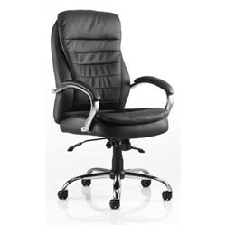 Rocky Executive Chair Black Bonded Leather High Back With Arms Ref EX000061