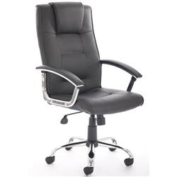 Toms Executive Chair Black Bonded Leather With Padded Arms Ref EX000163