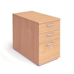 Impulse 800 Desk High Pedestal 3 Drawer Beech Ref I000071