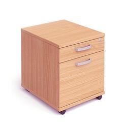 Impulse Mobile Pedestal 2 Drawer Beech Ref I000064