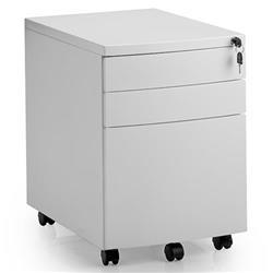 Steel Mobile Pedestal White Ref I000726