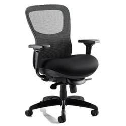 Stealth Ergo Posture Chair Black  Seat And Mesh Back With Arms Ref PO000019
