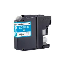 Brother Inkjet Cartridge High Yield Page Life 1200pp Cyan Ref LC22UC