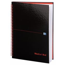 Black n Red Book Wirebound 90gsm Ruled 140pp A4 Ref 100103711 - Pack 5 - 2 for 1