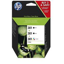 HP 301 Original Ink Cartridge 3-Pack (E5Y87EE)