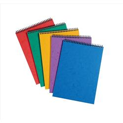 Notepad Headbound Ruled 90gsm 120 Pages A4 Assorted A [Pack 10]