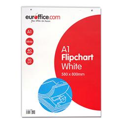 Euroffice A1 Perforated Flipchart Pad 40 Sheets Plain