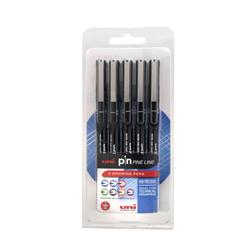 Uni Pin Pens Assorted Black Ref 153486603 [Pack 5]