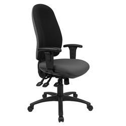 Cappela Radial High Back Posture Black Chair Ref KF03499