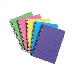 Notebook Sidebound Ruled 90gsm 120 Pages A5 Assorted C [Pack 10]